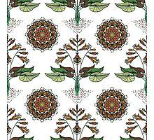 Floral Nouveau- Olive Photographic Print