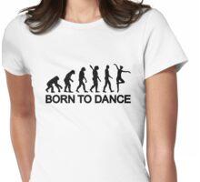 Ballet Ballerina evolution Womens Fitted T-Shirt