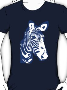 Zebra - Pop Art Graphic T-Shirt (blue) T-Shirt