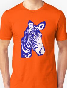 Zebra - Pop Art Graphic T-Shirt (blue) Unisex T-Shirt