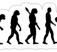 Evolution surfing surf board Sticker