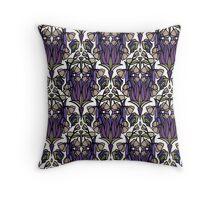 Dragonfly Nouveau- Mauve Throw Pillow