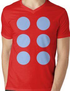 Thor Circle Armour Blue Mens V-Neck T-Shirt
