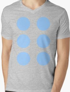 Thor Circle Armour Blue Mens V-Neck T-Shirt