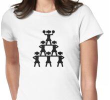 Cheerleader Pyramid Womens Fitted T-Shirt