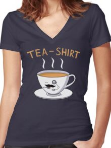Tea Shirt Women's Fitted V-Neck T-Shirt