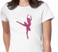 Ballerina dancing woman Womens Fitted T-Shirt