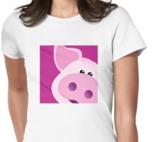 Happy Piggy - Graphic Tee Womens Fitted T-Shirt
