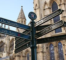York signage by Bethan Williams