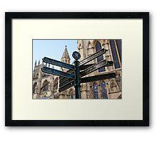 York signage Framed Print