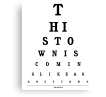 The Specials - Ghost Town Eye Chart Canvas Print