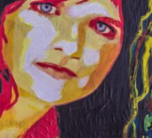 Amy Ray portrait Sticker