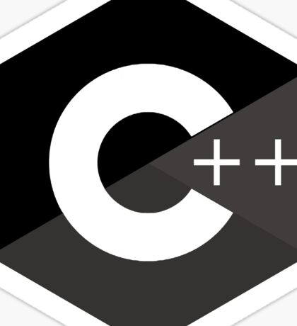 c++ c plus plus black language programming Sticker