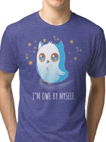 Owl by Myself Tri-blend T-Shirt