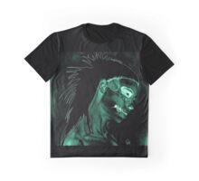 Yolanda Zombie Girl Green Inverted Graphic T-Shirt
