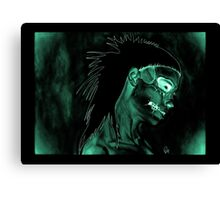 Yolanda Zombie Girl Green Inverted Canvas Print