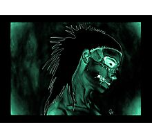 Yolanda Zombie Girl Green Inverted Photographic Print
