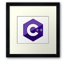 c++ c plus plus purple language programming Framed Print