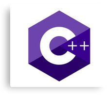 c++ c plus plus purple language programming Canvas Print