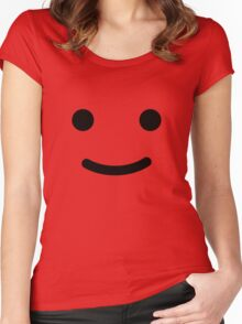 Minifig Face Women's Fitted Scoop T-Shirt