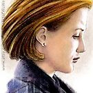 Gillian Anderson miniature by wu-wei