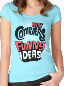 computer fun Women's Fitted Scoop T-Shirt
