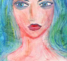 Fantasy Girl Watercolor Sticker
