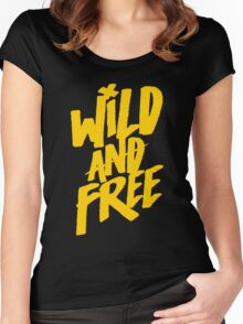 Wild and Free - Cute Southern T shirt for Men and Women Women's Fitted Scoop T-Shirt