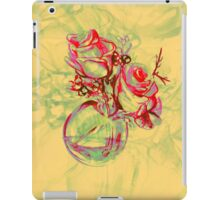 Colorful watercolor painting of roses in a terrarium.  iPad Case/Skin