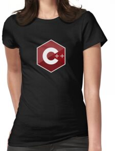 c++ c plus plus red language programming Womens Fitted T-Shirt
