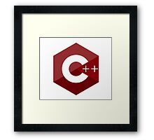 c++ c plus plus red language programming Framed Print