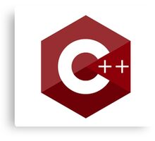 c++ c plus plus red language programming Canvas Print