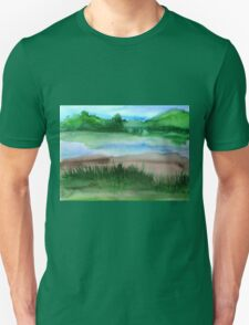 \Watercolor Landscape Unisex T-Shirt