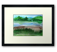 \Watercolor Landscape Framed Print
