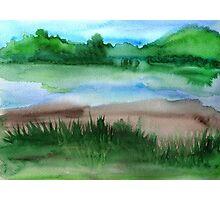 \Watercolor Landscape Photographic Print