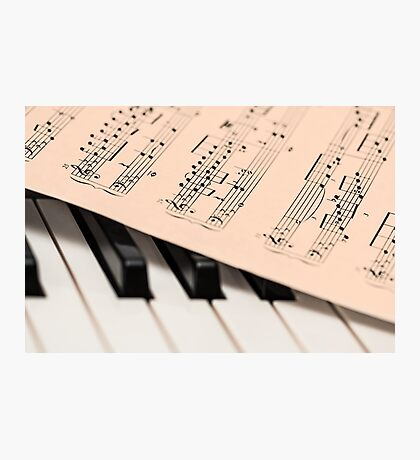 Piano and Notes Sheet Photographic Print
