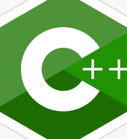 c++ c plus plus green language programming Sticker