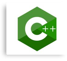 c++ c plus plus green language programming Canvas Print