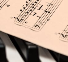 Piano and Notes Sheet Sticker