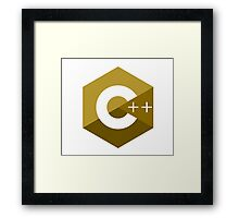 c++ c plus plus yellow language programming Framed Print