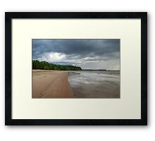 View of Gulf Forest and Barren Beach Framed Print
