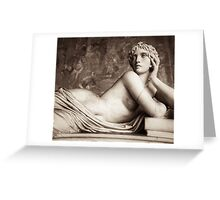 aphrodite reclining Greeting Card