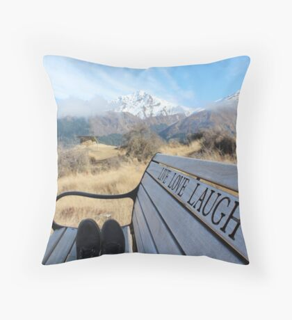 Live Love Laugh! Throw Pillow