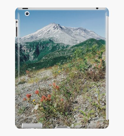 Mount St Helens with Wildflowers iPad Case/Skin