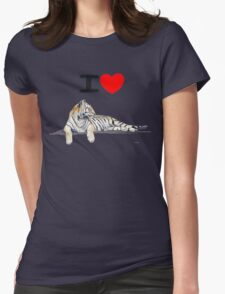 I love Tigers Womens Fitted T-Shirt