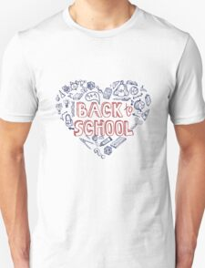 Back to School Supplies Sketchy Notebook.Heart T-Shirt
