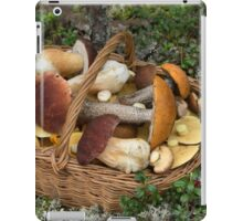 Mushrooms in the Wicker Basket on the Green Grass and Moss iPad Case/Skin