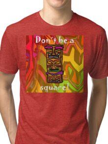 Tiki Squares Tri-blend T-Shirt