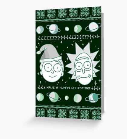 Human Christmas Greeting Card