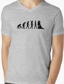 Evolution Wedding couple Mens V-Neck T-Shirt